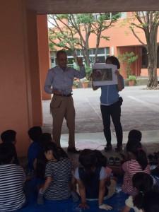 小学校訪問間伐材イベント